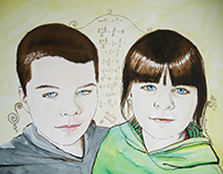 Siblings Water Color