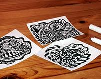 Hand drawn design elements for Valentine's Day