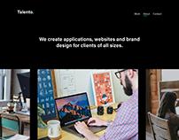 Talento - Portfolio Template for Adobe XD