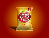 Free Packaging Chips Bag Mockup PSD
