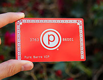 Metal Membership Cards for Pure Barre