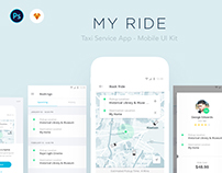 MY RIDE - Taxi App UI Kit