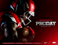 Arkansas Razorbacks Pro Day Mail-Out and Social Media