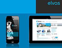 Elvas Group — branding, logo, identity, UI, UX design