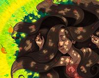 A menina dos cabelos floridos