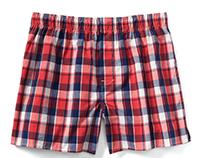 gap, men's plaid boxer; textile/woven