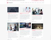 Blog Masonry Page - Employment WordPress Theme