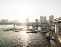 Tokyo in the evening sun