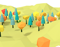 3D Tree low poly