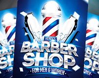 Barber Shop Flyer Template (download .psd)