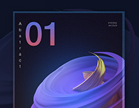 Abstract poster - gradient and 3D