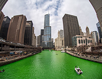 The Greening of the Chicago River, 2018