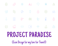 Project Paradise :Travel Icon Design