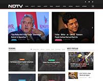 NDTV News portal mockup