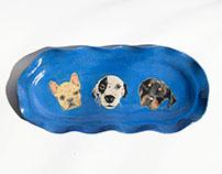 Dog Face Tray