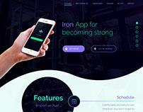 Landing for fitness mobile app