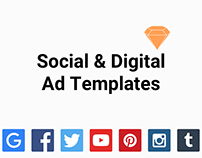 Social & Digital Ad Templates ( Sketch Resource)