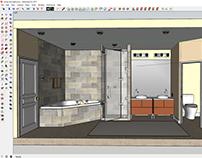 Corner tub remodel