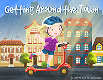 "Children's picture book ""Getting Around the Town"" (USA)"