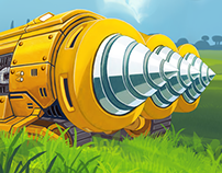 "GAME ASSETS DESIGN ""Digger: Race to the Core"""