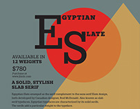 Font Family Poster Project - Egyptian Slate
