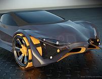 E futureOn futuristic concept car