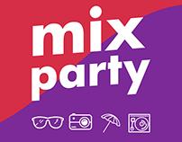 Desarrollo conceptual y gráfico de la marca Mix Party