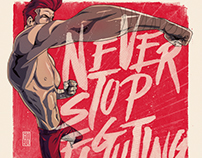 Never Stop Fighting - Personal Illustration