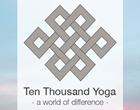 Ten Thousand Yoga - Company Branding