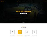 Wheeler - Taxi Company & Cab Service PSD Template