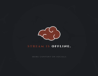 Red Black Aesthetic Cloud Twitch Stream Overlay