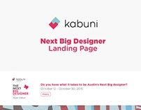 Next Big Designer landing page