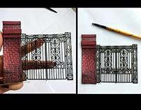 Miniature door scale 1.32 By Gül ipek istanbul .