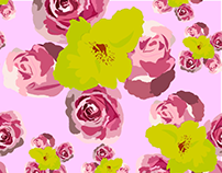 floral illustrated pattern