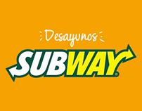 SUBWAY DESAYUNOS