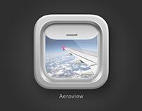 Aeroview iOS Icon Design