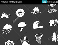 Natural disasters icons - icon set