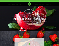 Natural Fresh UI\UX Design
