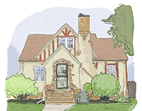 Customized House Illustrations