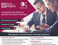 Training institute flyer