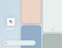 Pastel. - Smartphone mockups