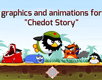 "graphics and animations for ""Chedot Story"""