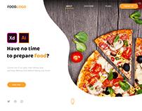 Food Website Xd Free