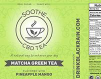 SOOTHE CBD TEA label designs