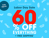 Labor Day Promotion Emails