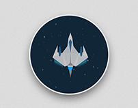 Iconic Spaceship GIF