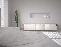 CGI: Just a minimal, white, bedroom...