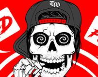"Teenage Wasteland Co. - ""Rad As Fvck"" Apparel Design"