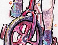 Drawing-Riding bike