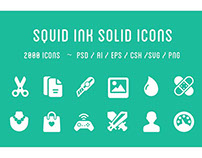 Squid Ink Solid Icon Pack